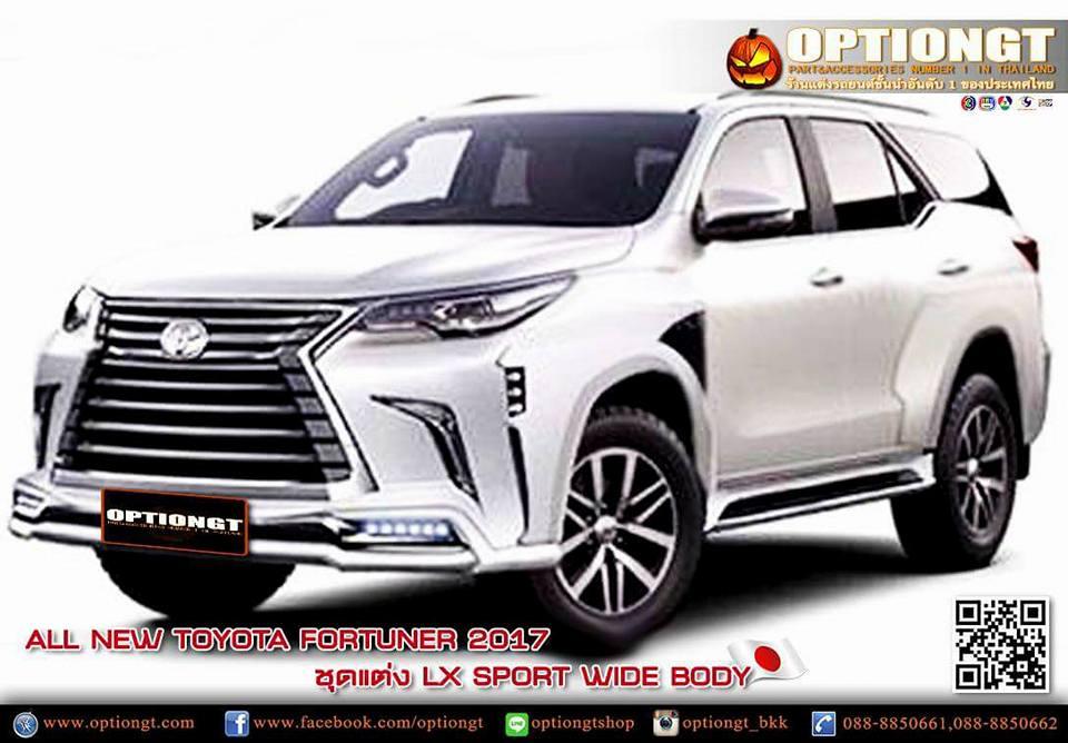 Optiongt Toyota Fortuner 2017 ชุดแต่ง Lx Sport Wide Body