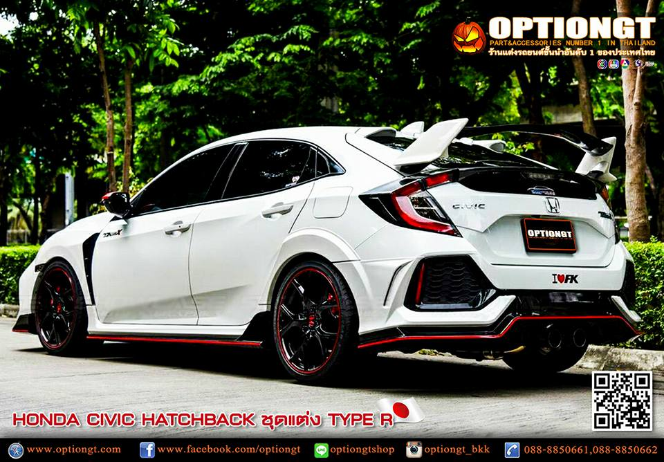 Honda Civic 2017 >> OPTIONGT | Honda Civic Hatchback 2017 ชุดแต่ง Type-R Tithum-X